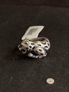 Vintage Style Silver Leopard Ring. Leopard Jewellery. Big Cat Jewellery