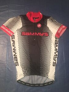 Castelli Made In USA Sammy's Size Medium Cycling Jersey Red White Black