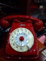 PASSIONE VINTAGE!!! TELEFONO A DISCO ROSSO SCURO