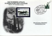 WWII 1941 RAF Bomb Düsseldorf/Cologne Aircraft Stamp Cover Germany/Danbury Mint