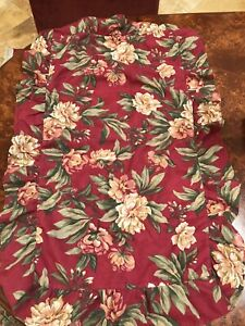 2 - Red Floral King Pillow Shams 34 X 19