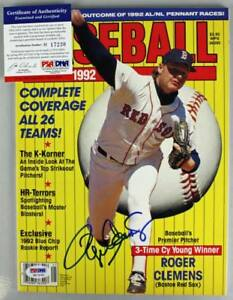 Red Sox Roger Clemens Authentic Signed 1992 Baseball Magazine PSA/DNA #H17230