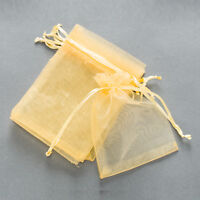 10pcs Premium ORGANZA Wedding Favour Gift Bags Jewellery Storage Pouches