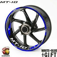 Yamaha MT-10 MT10  motorcycle wheel decals rim stickers set kit 17 rim vinyl