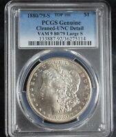 1800/79 Large S Morgan Silver Dollar UNC VAM 9 80/79 Top 100 PCGS Graded! RARE