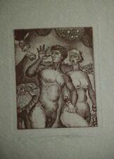 TWOSOME -1991-VLADIMIR VERESCHAGIN*1949 Russia-Exlibris-BOOKPLATE-29/100 signed