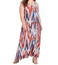 NEW NWT Karen Kane Plus Size Print Liquid Knit Tank Maxi Dress 1X Made in USA