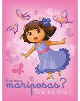 """Blanket Fleece 46""""x60"""" Nickelodeon Dora Explorer Mariposas Butterfly Girl NEW"""