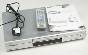 JVC DR-M100S DVD Recorder Player machine remote SCART Component Coaxial UK