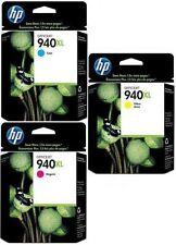 GENUINE HP HEWLETT PACKARD HP 940XL INK CARTRIDGE MULTIPACK 3 PACK C Y M