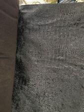 Dark Brown Alligator Crocodile Embossed Chenille Velvet Fabric (56 in.) 1 Yard
