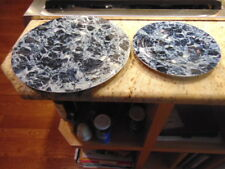 Villeroy and Boch Marble Blue Charger/Dinner/Chop Plate and Salad Plate
