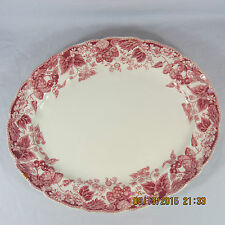 Johnson Brothers Strawberry Fair serving platter pink white berries flowers leaf