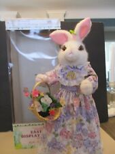 """Vintage Telco Easter Bunny Rabbit Large 26"""" Animated Musical Motionette PURPLE"""