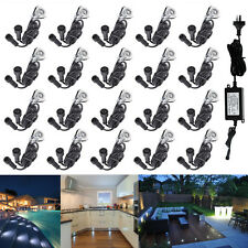 20Pcs 19mm 12V Bright White Outdoor Yard Patio Landscape LED Deck Stair Lights