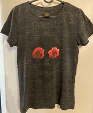 OBEY Woman's Fitted T-Shirt - Skull w/ Roses - Size M