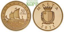 R875) MALTA 50 Euro 2011 - Die Phönizier - Gold