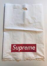 Supreme White Retail Plastic Shopping Bag Box Logo 23x16 (5 Bags) Vinyl Tote
