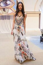 CAMILLA FRANKS SILK ROMAN DE LA ROSE V NECK KAFTAN DRESS