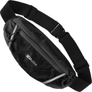 3DActive Running Belt PRO Waist Pack Water Resistant Runners Belt Bumbag Pouch