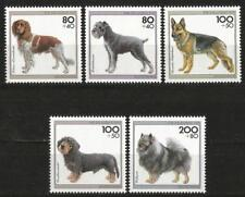 Germany 1995 MNH - Youth Welfare Dogs (I) Schnautzer Dachshund German Shepherd
