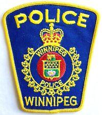 VINTAGE OBSOLETE WINNIPEG CANADA POLICE SHOULDER PATCH ~ NEW CONDITION