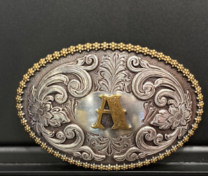 NOCONA OVAL INITIAL BUCKLE A - ACC BUCKLE - 37072-A