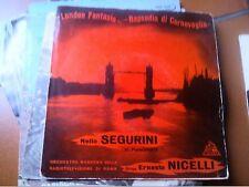 """7"""" EP NELLO SEGURINI AL PIANOFORTE '57 LONDON FANTASIE RPSODIA DI CORNOVGLIA EX+"""