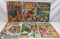 Lot of 6 Marvel Comic Books Conan The Barbarian Man Thing Kull Thonger E-Man etc