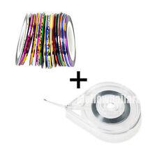 30pcs DIY Easy Use Nail Art Roll Striping Tape Line+ Case Sticker Box Holder