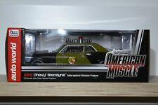 """Autoworld American Muscle 1:18 Chevrolet Biscayne """"Maryland Police""""1966 AMM 1030"""