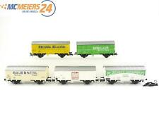 E16D35 Roco H0 5x Güterwagen Werbewagen Breuer Bild Willi Betz Bauernebl DB CSD