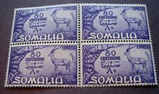 Somalia Scott# E9 Grant's Gazelles 1950 MNH Block of 4 C5