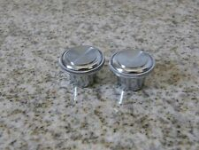 1969-70 OLDSMOBILE CUTLASS 442 TORONADO CHROME RADIO KNOBS NICE Free Ship Low 48