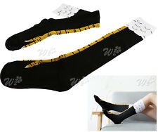 40cm Knee High Socks Stockings Sheer Comfortable School Girl Fancy Dress AU