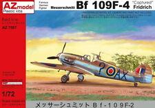"AZ Models 1/72 Kit 7587 Messerschmitt Bf-109F-4 ""capturan"" 2 RAF y 1 USAAF"