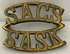 WW2 South African corps of Signal Brass Shoulder Title Genuine 3.2 x 2.6 cm's