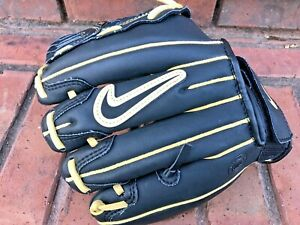Nike DE Prospect Baseball pro 10 Inch  glove R-H genuine leather youth size gold