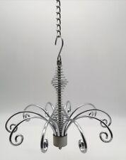 12cm 10 Hook Hanging Fountain Display Jewellery, Suncatchers, Baubles SILVER
