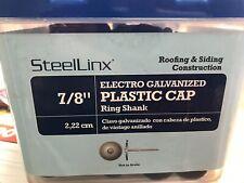 "Plastic Cap Roofing Nail 7/8"" 1 Lb Box Electro Galvanized"