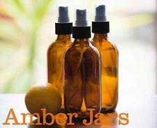 7 x 200ml Amber Glass Bottles / Fine Mist Spray Bottle - SUPERIOR QUALITY SPRAYS
