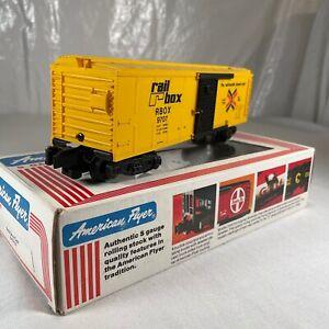 American Flyer No. 4-9707 Rail Box Car - S Gauge in Original Box - Railbox