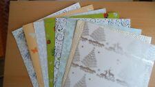 Kartenpapier in verschiedenen Motiven & Stärken 8 Blatt DIN A4 Set 5