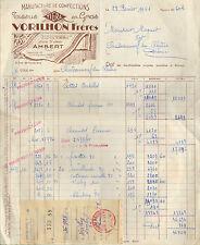 63 AMBERT FACTURE MANUFACTURE VORILHON TISSUS EN GROS TIGRA 1951