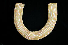 VINTAGE 1950'S HAND MADE IN JAPAN FAUX PEARL BEADED COLLAR 15' BY 2""