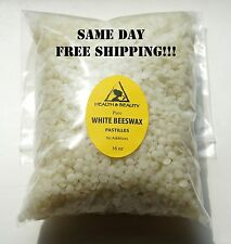 WHITE BEESWAX by H&B Oils Center BEES WAX ORGANIC PASTILLES PURE 16 OZ, 1 LB