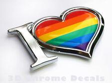Pride Decal Gay Lesbian Chrome Emblem Sticker Car Bike
