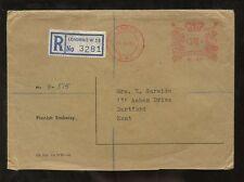 FINLAND EMBASSY METER FRANKING 1967 REGISTERED to DARTFORD KENT