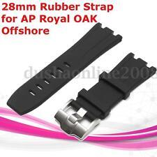 28mm Bracelet de montre + Boucle Silcone Remplacement For AP/Royal/OAK/Offshore