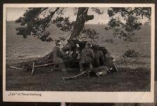 "1937 Hanau Germany Rppc Postcard Cover ""Tak� in firing position"